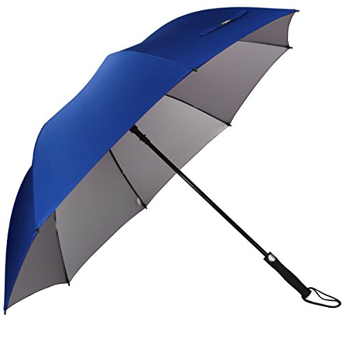 G4Free 62 Inch Automatic Open Golf Umbrella Anti UV Sun Protection Large Oversize Windproof Waterproof Stick Umbrellas(Sapphire)