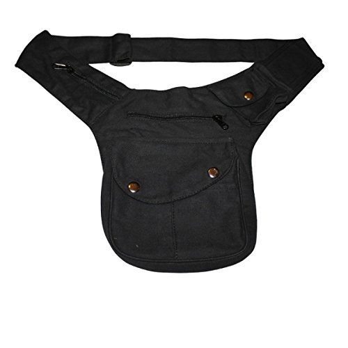 Freak Scene® Tasche ° Gürteltasche ° Buddy ° Bauchtasche ° Hüfttasche, Farbe: schwarz uni
