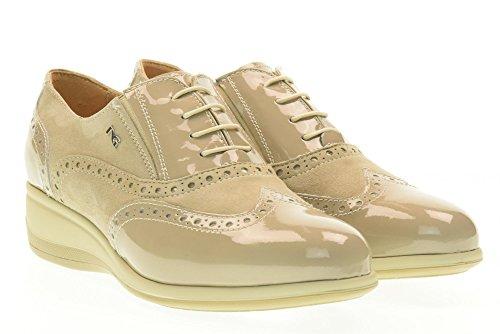 zeppa GIARDINI NERO scarpe inglesine P717961D Sabbia 410 donna UPxxqCdw