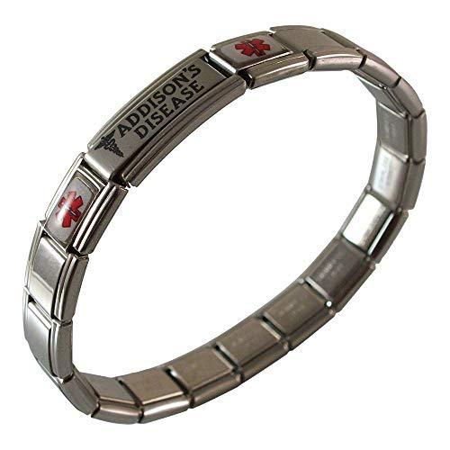 - Gadow Jewelry Addison's Disease Medical Alert Italian Charm Bracelet