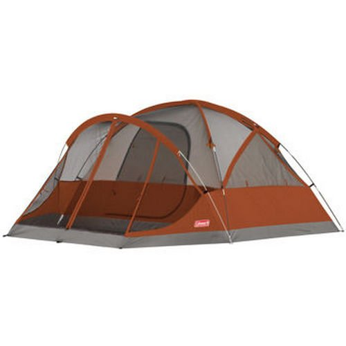 NEW! Coleman Evanston 4 Person Family Camping Tent w/ Screened Porch | 9′ x 7′