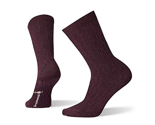 Smartwool Chain Link Cable Crew Socks - Women's Ultra Light Cushioned Merino Wool Performance Socks