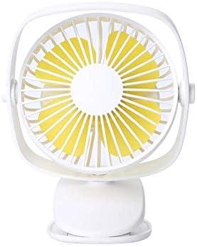 Huiit Acople el Ventilador con batería Recargable y Ventilador de Escritorio USB con Velocidad Ajustable 2000mAh,White