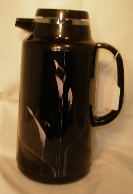 Mikasa Galleria Opus Black Calla Lilly Plastic Thermos Pitcher Carafe - Carafe Mikasa