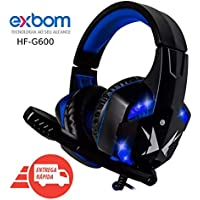 Headset Gamer Super Bass 7.1 Full P2 Usb Led Microfone Pc Azul