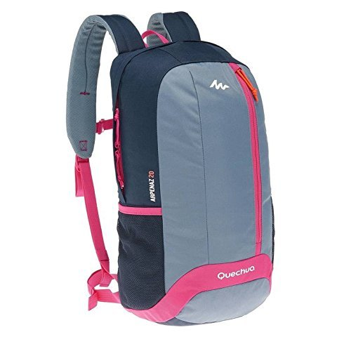 0ad7c4f8f3ad4 Decathlon Quechua Hiking Camping Water Repellent Backpack Arpenaz 20L  (Gery/Pink/