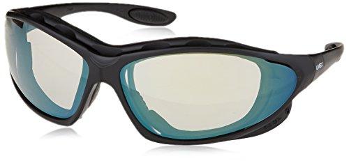 Uvex S0604X Seismic Safety Eyewear, Black Frame, SCT-Reflect 50 Uvextra Anti-Fog Lens/Headband
