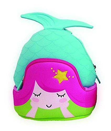 Jack & Friends Mermaid Neoprene Kids backpack, Aqua/Teal/Hot Pink