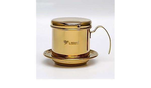 Cafetera eléctrica - Olla, acero inoxidable vietnamita clásico café Drip filtro Maker 1 taza de café Drip Brewer? Portátil, papierlosen para Hogar Cocina ...