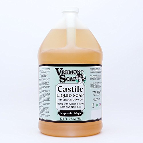 Vermont Soap Organics - Peppermint Magic Liquid Aloe Castile Soap Gallon