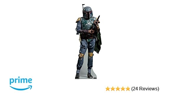 BOBA FETT FROM STAR WARS MINI CARDBOARD CUTOUT//STAND UP FUN SIZE FOR FANS