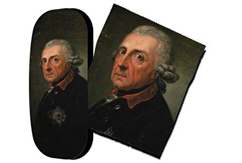 Set étui à lunettes et chiffon de nettoyage pour lunettes Frédéric II de Prusse de Artis Vivendi