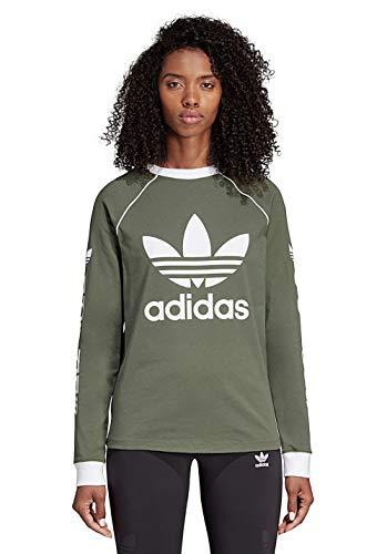 Og Camiseta Mujer verbas Longsleeve Adidas Verde Egwpqp