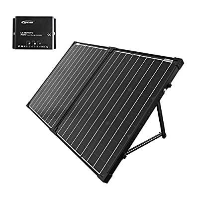 ACOPOWER 100W Portable Solar Panel Kit with 20A Charge Controller