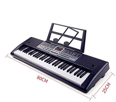 Universel LMIM Clavier de Piano /électrique num/érique /à 61 Touches avec Support de partitions Clavier /électronique Portable pour d/ébutants pour Enfants et Adultes Haut-Parleur Plus Puissant
