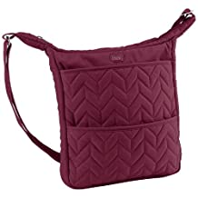 Lug Compass Shoulder Pouch, Cranberry Red, One Size