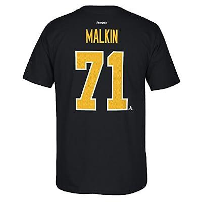 Pittsburgh Penguins Evgeni Malkin Reebok NHL Player T Shirt Men Black