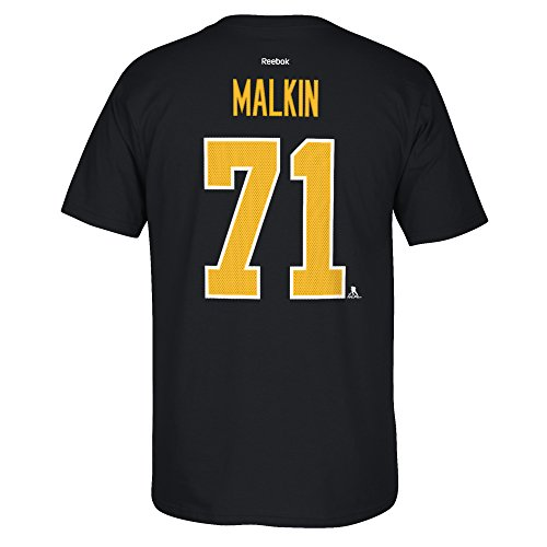 Reebok Penguins (Pittsburgh Penguins Evgeni Malkin Reebok NHL Player T Shirt Men Black L)