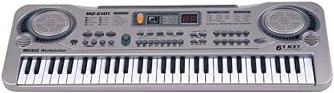 ミュージカルおもちゃ 61鍵電子キーボードピアノLED音楽玩具教育エレクトーンクリスマスギフトミュージカルおもちゃ 多機能の子供の音楽玩具 (色 : グレー, Size : Ones)
