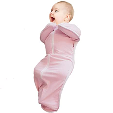 Saco de dormir unisex para bebé recién nacido, de algodón rosa rosa Talla:M