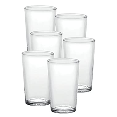 Duralex Made In France Chope Unie 19-3/4-Ounce Tumbler, Set of 6