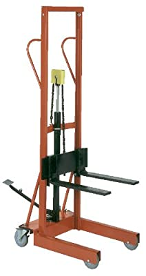 "Wesco Industrial Products 260151 Hydraulic Lite-Lift, 500-lb. Capacity, 54"" Lift Height, 20"" x 30"" x 70.5"""