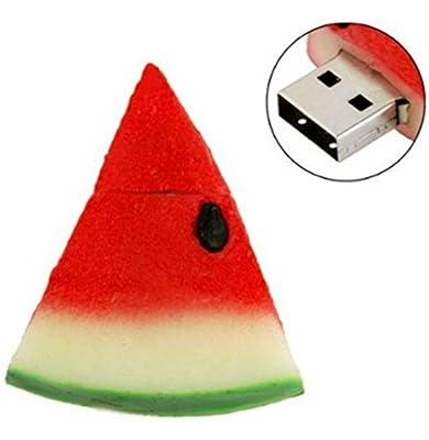 Qingsun 4G 4GB Watermelon Fruit Shape USB Flash 2.0 Drive USB Flash Disk Pen Drive Memory Stick Pen Drive Jump Drive