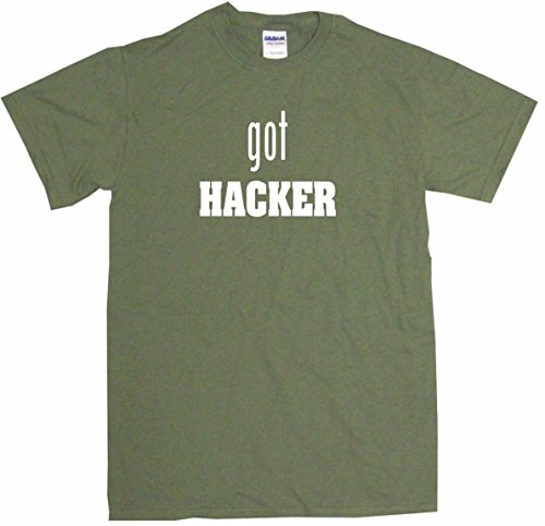 - Got Hacker Big Boy's Kids Tee Shirt Youth XL-Olive
