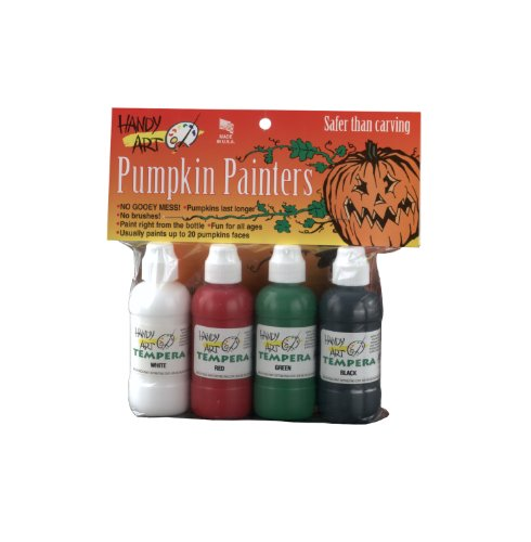 Handy Art 4 color - 2 ounce Tempera Pumpkin Painters Kit