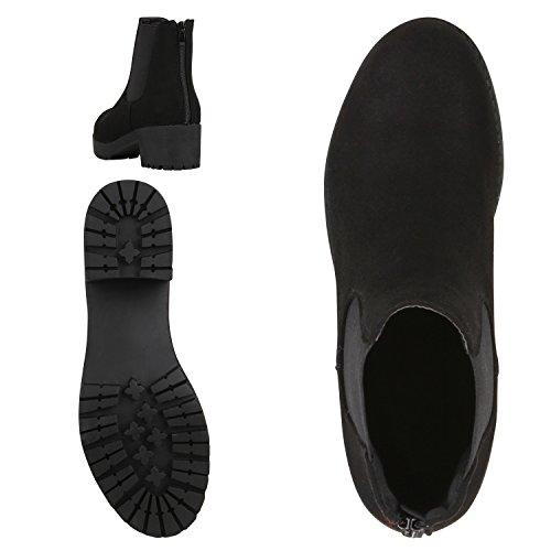 Scarpe Tela Vita Botines de Mujer Chelsea Negro sintético xqZPapx