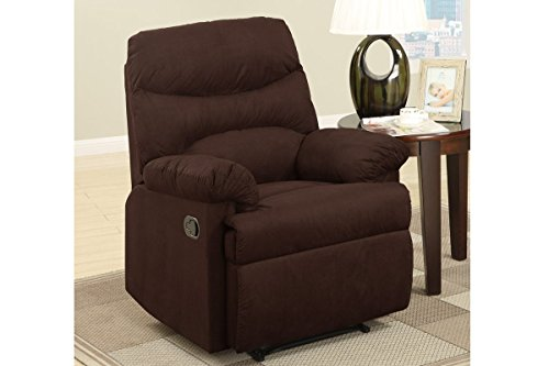 Poundex Casual Recliner, Chocolate by Poundex