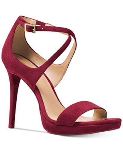 (Michael Kors FARYN Strappy Heeled Sandals Mulberry 7 M US)