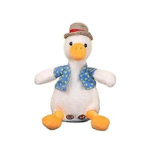 whelsara Kids Talking Toy,Talking Stuffed Ducky Repeat What You Say Electronic Speaking Pet,Talking Musical Plush Toy…