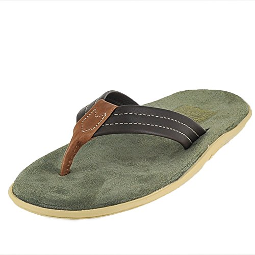 ISLAND SLIPPER ISLAND PRO PT203ML SAGE/BROWN MENS THONG Size 9M (Brown Thong Slippers)