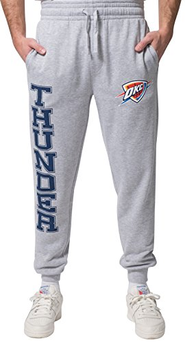 NBA Men's Oklahoma City Thunder Jogger Pants Active Basic Soft Terry Sweatpants, X-Large, Gray