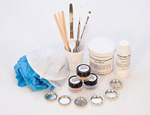 EnCapture Artisan Concrete White Concrete Kit Jewelry Design Making Set
