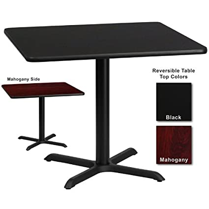 amazon com flash furniture 36 inch square dining table w black or rh amazon com