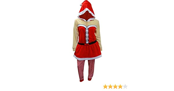 10a513c32 Amazon.com  Briefly Stated Women s Mrs Santa Claus Onesie Hooded ...