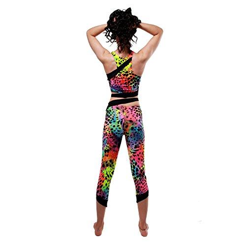 Sirena Leggings Recortada w0159 Rainbow/Black
