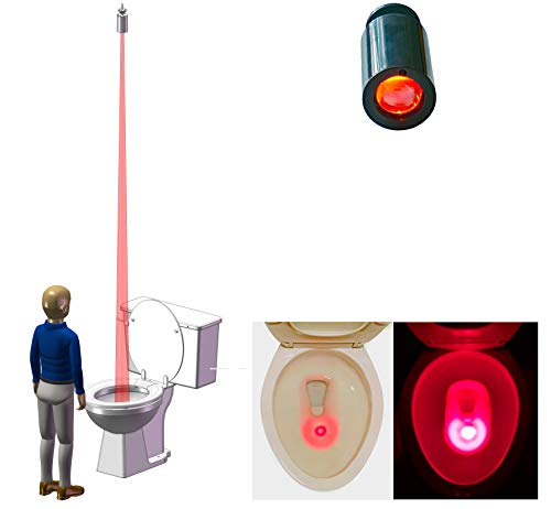 Hacy Toilet Training Target for Boys. Mounted to The Ceiling to Stay Away from The Reach of Their Urination. It Doubles as a Night Light. Motion-Activated.