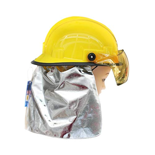 Hard Hat Fire Safety Helmet, Firemen 3C Certified Hard Hat Rescue Site Safety Helmet, Flame Retardant High Temperature Resistance Mask by Moolo (Image #1)