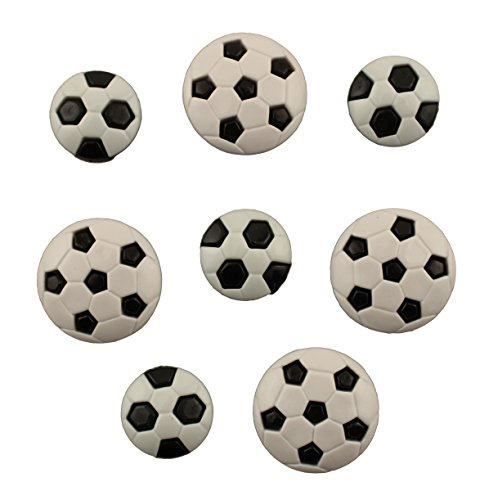 BUTTONS GALORE BUTTON THEME PACK - SOCCER (Soccer Ball Button)