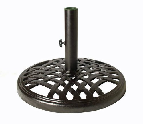 Madhu's COLLECTION - MG Décor Lattice Base Garden Umbrella Stand, 18 by 18 by 13-Inch