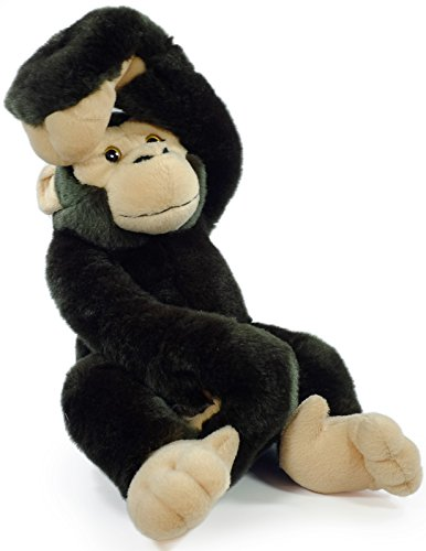 VIAHART Chance The Chimpanzee | 17 Inch (with Hanging Arms Outstretched) Large Hanging Monkey Chimp Stuffed Animal Plush Ape | by Tiger Tale Toys -