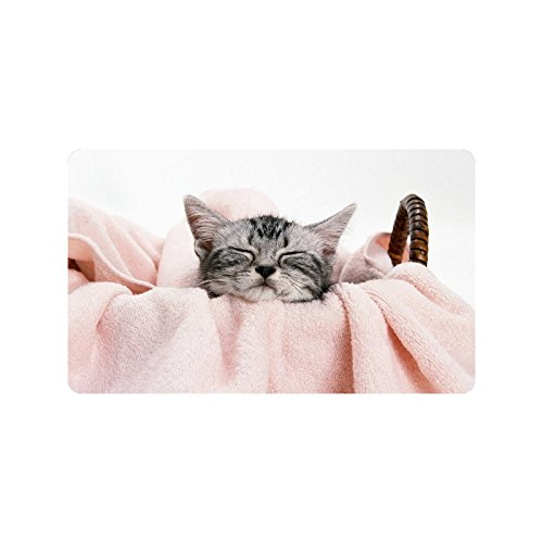 Special Design Custom Cat in a bamboo frame Personalized Non-Slip Machine Washable Bathroom Indoor/Outdoor Doormat 30 by 18 - To You How Frame Are What Size Tell