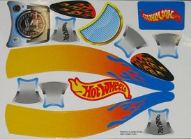 Set Of HOT WHEELS Decals for The Original Big Wheel Spin-Out Racer/ Mighty Wheels, Original Replacement (Hot Wheels Decal Set)