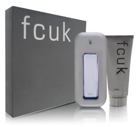 fcuk Him by French Connection UK for Men 2 Piece Set Includes: 3.4 oz Eau de Toilette Spray + 6.7 oz Hair & Body Shampoo