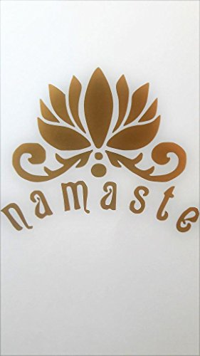 Namaste Yoga Fitness Vinyl Decal Sticker|GOLD|Cars Trucks Vans SUV Jeeps Laptops Wall Art|5.5
