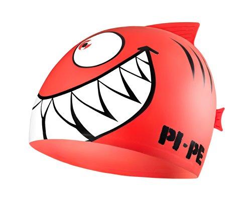 PI-PE Children´s Swimming Cap Sharky Red