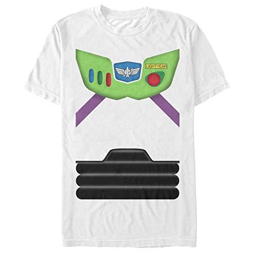Toy Story Men's Buzz Lightyear Costume Tee White T-Shirt